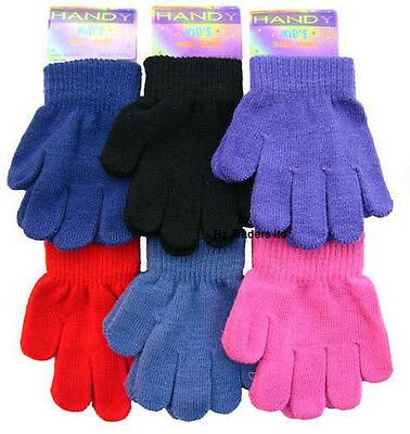 1 Pair Kid Childrens Magic Gloves Acrylic Spandex Knitted Warm Winter Gloves
