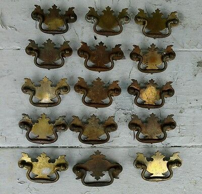 Lot of 15 Drawer Pulls Antique Rusty Pieces