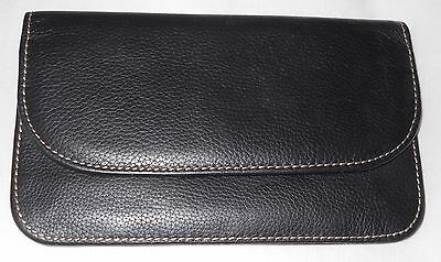 Leather Passport Holder Cover Wallet Zipper Compartments