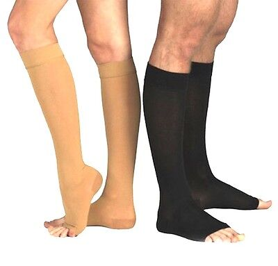 New Compression Socks OPEN TOE Knee High Leg Support Stockings