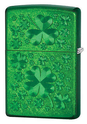 Zippo 28354 clover green ice full size RARE & DISCONTINUED Lighter