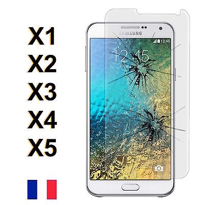 Lot 1/5 Vitre Film Protection Ecran En VERRE TREMPE Incassable Samsung Galaxy E7