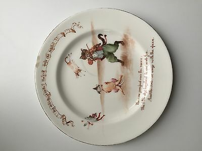 Vintage 1950s Royal Doulton Nursery Rhymes Plate Hey Diddle Diddle