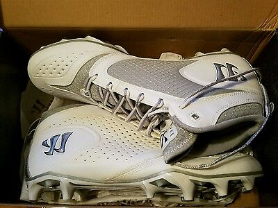 Brand New In Box Warrior Burn 5.0 Mid Support Lacrosse Cleats Size 11 1/2