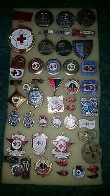 Cccp Ussr Soviet Russian Communist Propaganda Pin Badges Set.