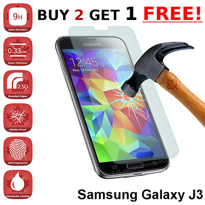 Samsung Galaxy J3 Premium Clear Tempered Glass Screen Protector from Canada