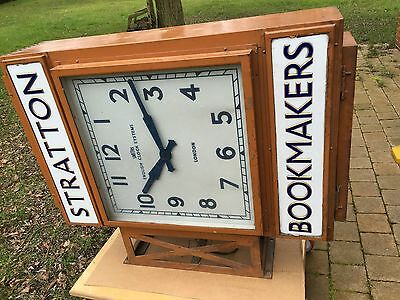 Smiths English Clock Systems Double Sided Antique Vintage Shop Illuminated Sign