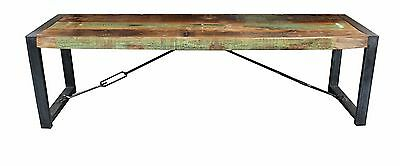 Industrial Steel And Recycled Wood Bench Seat
