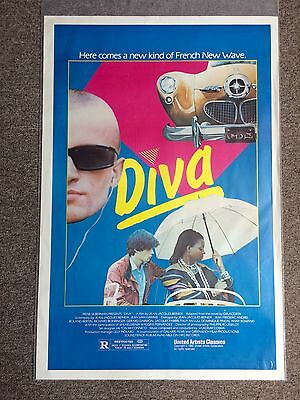 Diva 1982 French New Wave Original Movie Poster