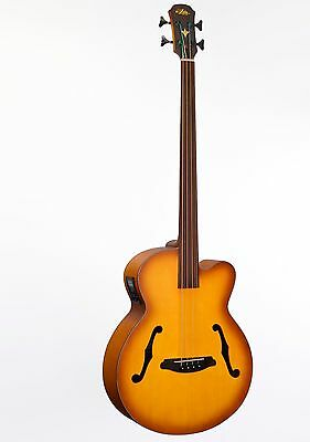 Aria Arfeb Fretless Acoustic/electric Bass Guitar