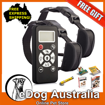 2 Dog Electric Remote Control Dog Training Collar | Anti Bark | Water Resistant