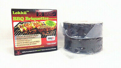 6x Pack of 2pcs Lokkii BBQ Briquettes Ready to Lite Outdoor BBQ Parts