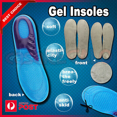 Silicone Gel Orthotic Arch Support Massaging Sport Shoe Insole Run Pad 1 Pair
