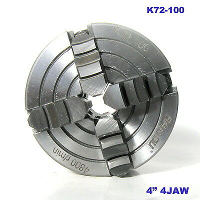 """1 pc Lathe Chuck 4"""" 4Jaw Independent & Reversible Jaw K72-100 sct 888"""