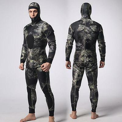 3mm two piece spearfishing wetsuit for men including long john and jacket