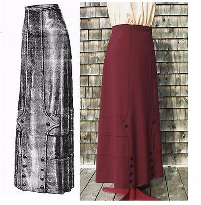 Antique Sewing Pattern 1912 Lovely Edwardian Skirt w Topstitch Detail ~ MULTI-Sz