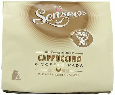 Douwe Egberts Senseo Cappuccino Coffee (Pack of 8, Total 64 Pods) New Design