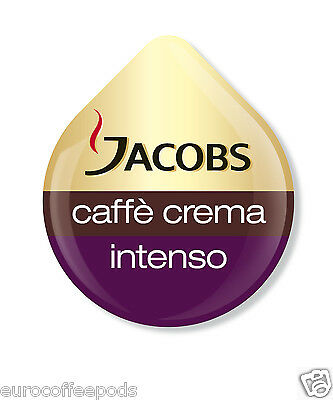 48 x Tassimo Jacobs Caffe Crema Intenso Coffee T-disc (Sold Loose)