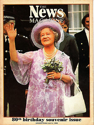 The News Magazine HM THE QUEEN 80th BIRTHDAY SOUVENIR ISSUE 4 July 1980 @VGC@