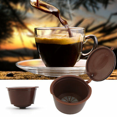 3Pcs/Lot Personal Use Reusable Refillable Compatible Coffee Filter Baskets I6
