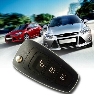 New 3 Button Flip Remote Key Fob Case Shell for Ford Focus MK3 and T6 Ranger