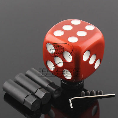 """Universal 1//2/"""" Car Orange and White Lucky DICE GEAR Shifter Shift Lever Knob"""