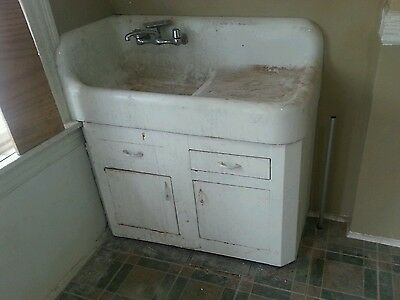 Vintage steel cabinet for under cast iron sink Apron Farm Architectural Salvage