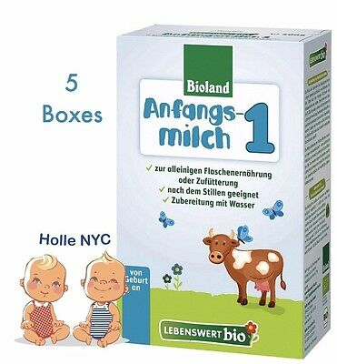 Holle Lebenswert Stage 1 Organic Formula,5 Boxes,0-6 months,500g(17.4oz) 09/2019