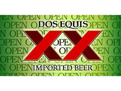 Open Dos Equis Beer Banner Pub Bar Sign