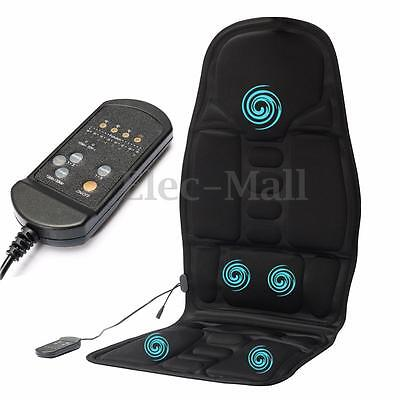 New Massager Cushion Massage Chair Heated Back Seat For Car Home Relax Stress