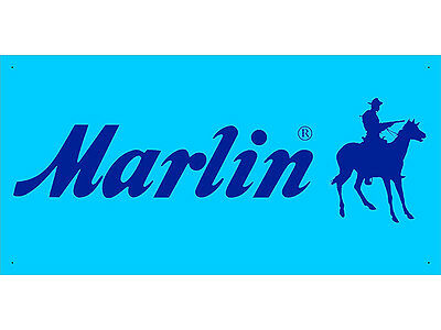 Advertising Display Banner for Marlin Dealer Arm Gun Shop