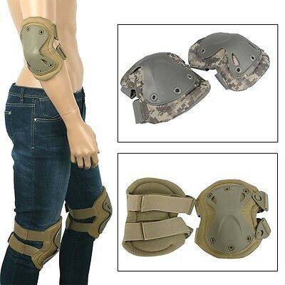Combat Tactical Military Army Knee&Elbow Pads Protection Airsoft Skate Set Gear