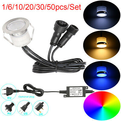 0.6W 32mm Low Voltage Outdoor Landscape Garden LED Deck Step Recessed Lights Kit