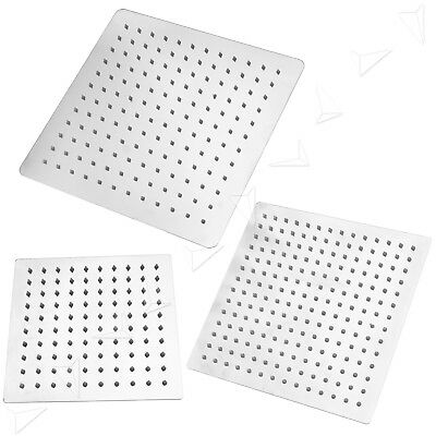 """8""""/10""""/12"""" Square Ultra-thin Stainless Steel Rainfall Bathroom Top Shower Head"""
