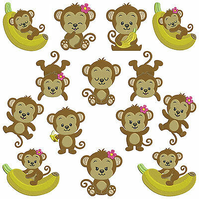 * MONKEYS 1 * Machine Embroidery  Patterns * 14 Designs in 3 sizes