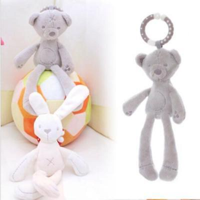 Baby Kid Girl Soft Stuffed Plush Teddy Bear Bunny Rabbit Crib Bed Toy Doll T