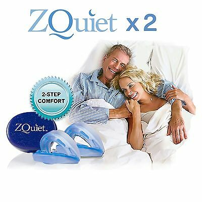 2 x ZQuiet Anti Snore Mouthpiece ALL-NEW 2 STEP COMFORT SYSTEM OFFICIAL PRODUCT
