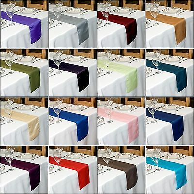 TAFFETA TABLE RUNNER  270 cm Long x 22 cm Wide VARIOUS COLOURS