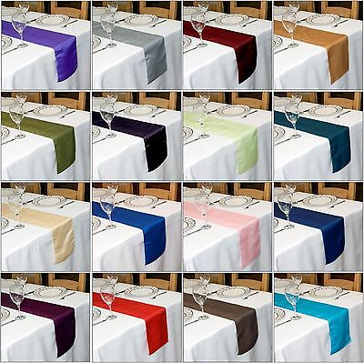 TAFFETA TABLE RUNNER  280 cm Long x 22 cm Wide VARIOUS COLOURS