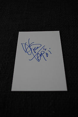 THE TEMPTATIONS Otis Williams signed Autogramm auf 10x15 cm Karteikarte InPerson