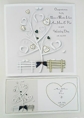 Personalised Wedding Day Card & Gift Wallet - Sister Brother In Law BOXED OPTION