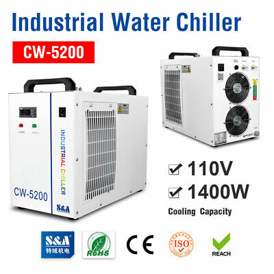 USA 110V CW-5200DH Industrial Water Chiller 60Hz for 8KW Spindle / Welding/ Tube