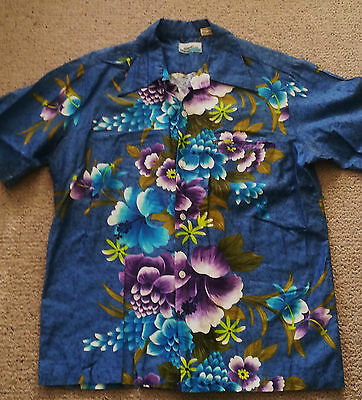 vintage Hawaiian shirt 60's 70's Penneys Hawaii excellent condition size L