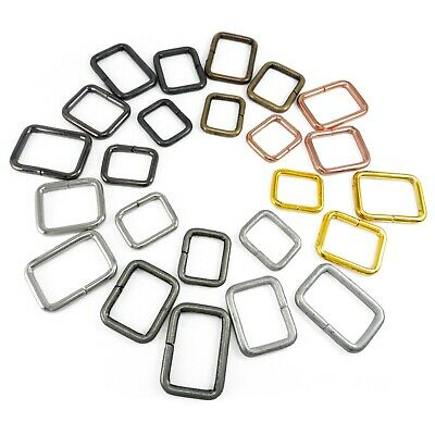 Non Weld Metal Rectangle D rings loop for webbing 15 20 25 30 40 50 mm