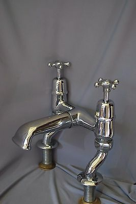 Old Chrome Bath Mixer Taps Large Bathroom Taps Reclaimed Fully Refurbed