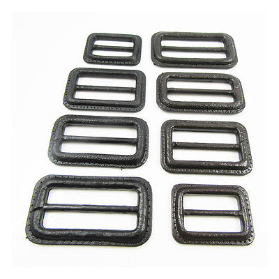 2 x BLACK or BROWN IMITATION LEATHERETTE EFFECT BUCKLES FOR COATS JACKETS & BAGS
