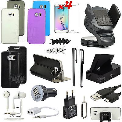 22 PCS Accessory Leather Case Cover Charger Holder For Samsung Galaxy S6 Edge