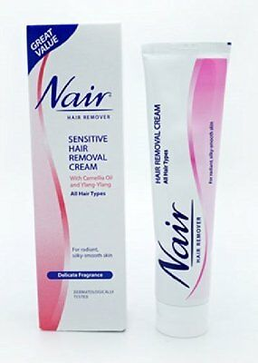 2 X Nair  Sensitive Hair Removal Cream With Camelia Oil & Ylang Ylang - 80Ml