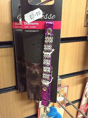 Feline Finesse Diamante Cat Collar