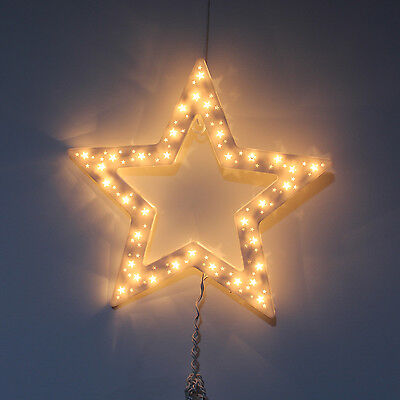 New Xmas Light Up Double Sided Frame Christmas Star Sculpture Window Decoration